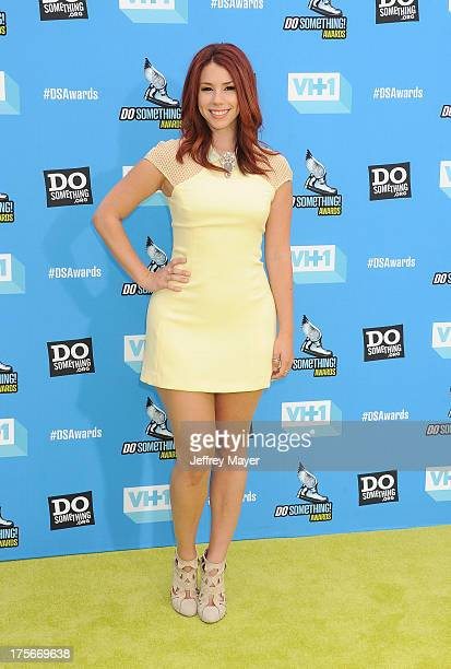 Actress Jillian Rose Reed arrives at the DoSomethingorg and VH1's 2013 Do Something Awards at Avalon on July 31 2013 in Hollywood California