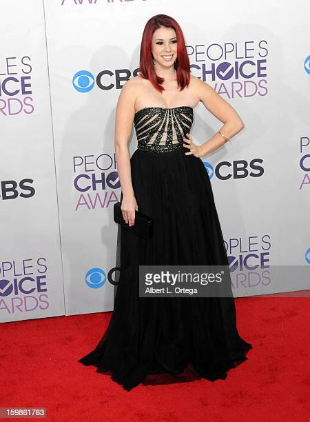Actress Jillian Rose Reed arrives for the 34th Annual People's Choice Awards Arrivals held at Nokia Theater at LA Live on January 9 2013 in Los...