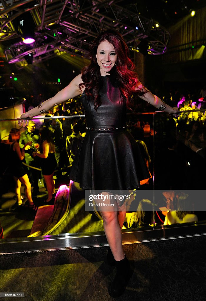 Actress Jillian Rose Reed attends her 21st birthday at Haze Nightclub at the Aria Resort & Casino at CityCenter on December 20, 2012 in Las Vegas, Nevada.