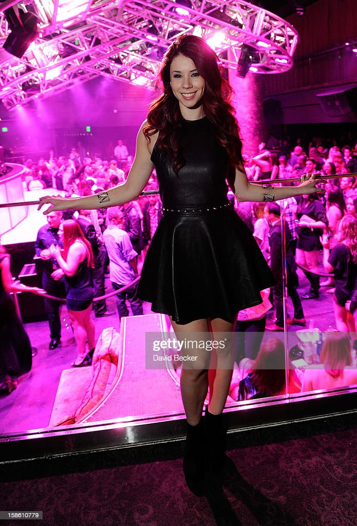 Actress Jillian Rose Reed attends her 21st birthday at Haze Nightclub at the Aria Resort & Casino at CityCenter on December 20, 2012 in Las Vegas, Nevada.