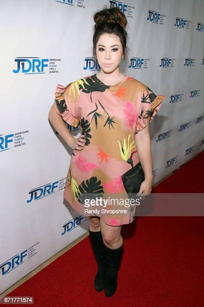 Actress Jillian Rose Reed attends JDRF LA's IMAGINE Gala to benefit type 1 diabetes research at The Beverly Hilton on April 22 2017 in Beverly Hills...