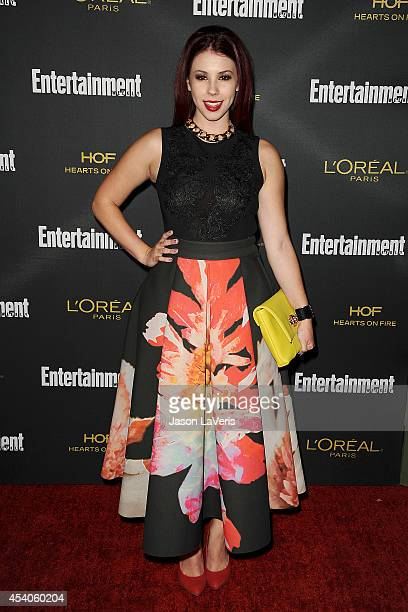 Actress Jillian Rose Reed attends the 2014 Entertainment Weekly preEmmy party at Fig Olive Melrose Place on August 23 2014 in West Hollywood...
