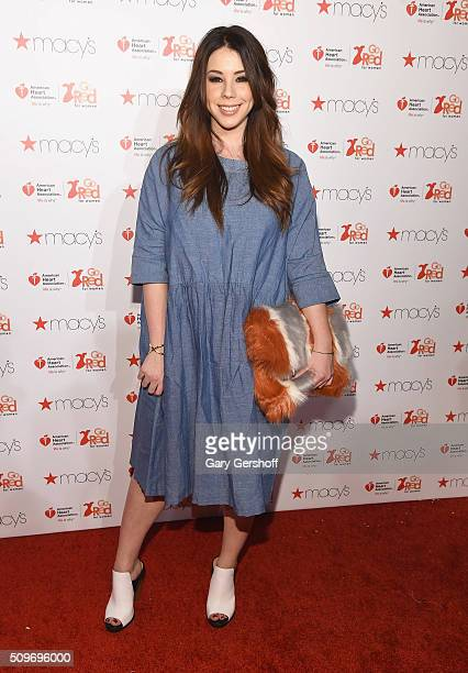 Actress Jillian Rose Reed attends The American Heart Association's Go Red for Women Dress Collection 2016 at Skylight at Moynihan Station on February...
