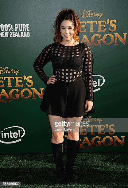 Actress Jillian Rose Reed attends the premiere of 'Pete's Dragon' at the El Capitan Theatre on August 8 2016 in Hollywood California