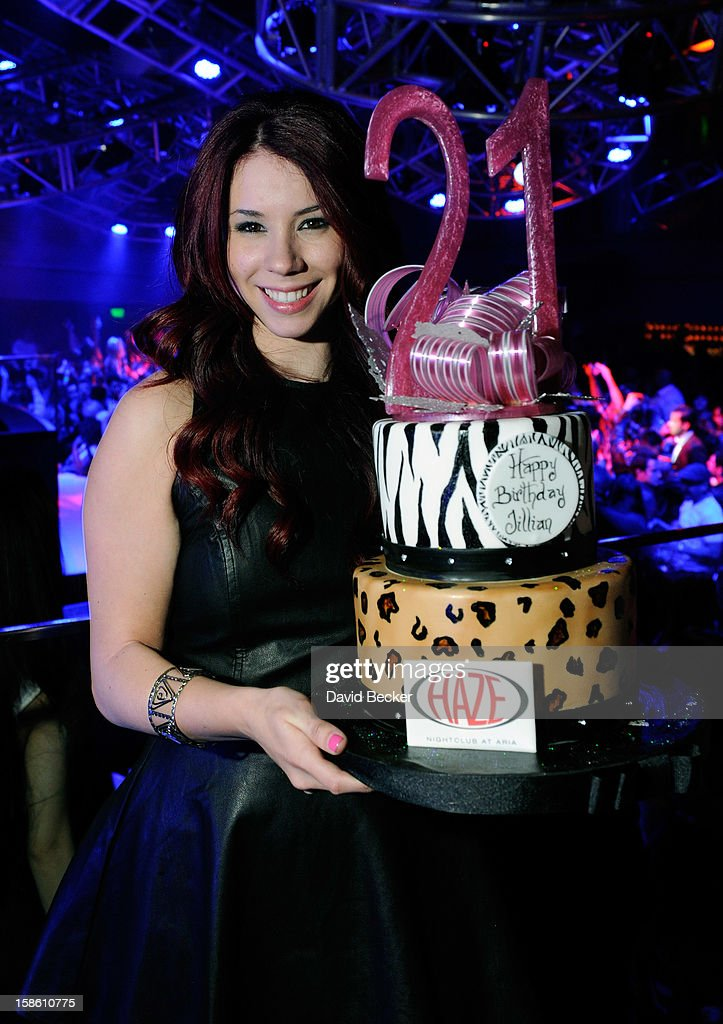 Actress Jillian Rose Reed celebrates her 21st birthday at Haze Nightclub at the Aria Resort & Casino at CityCenteron December 20, 2012 in Las Vegas, Nevada.