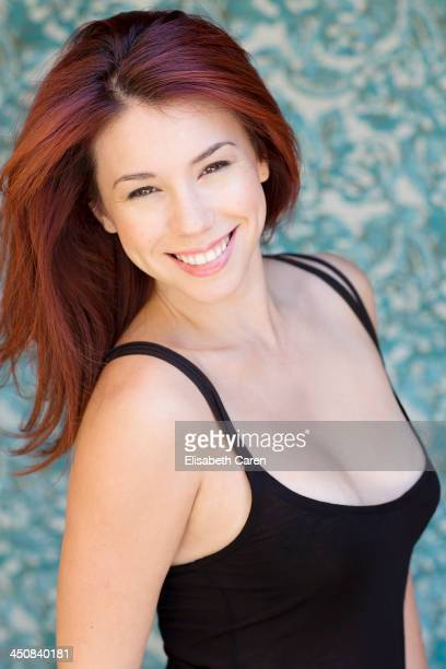 Actress Jillian Rose Reed is photographed for Self Assignment on April 22 2013 in Los Angeles California