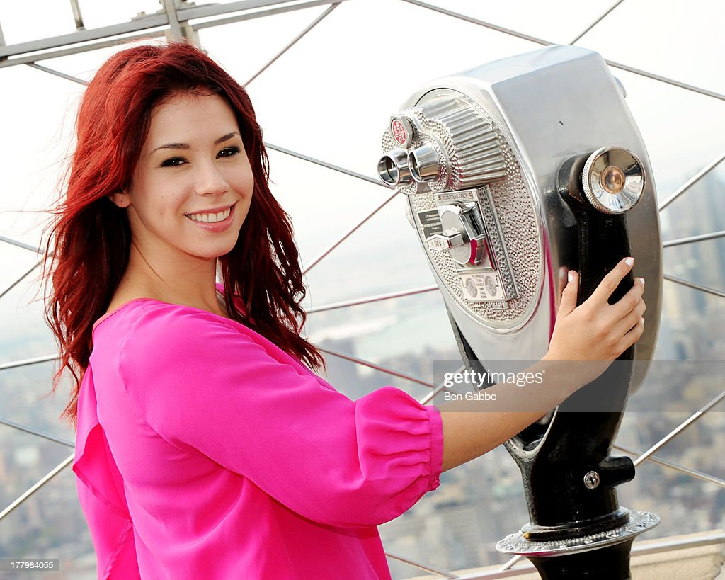 Actress Jillian Rose Reed visits The Empire State Building on August 26, 2013 in New York City.
