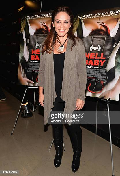 Actress JillMichele Melean attends the premiere of Millenium Entertainment's 'Hell Baby' at Chinese 6 Theater Hollywood on August 19 2013 in...