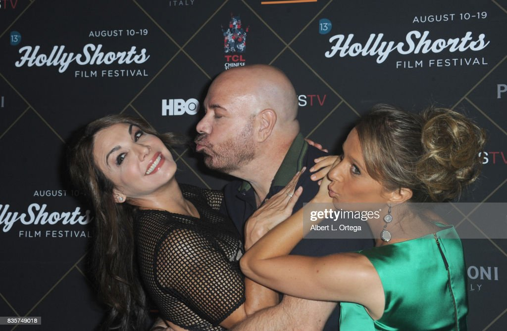 Actress Jill-Michele Melean, Jason Stuart and Maria Elena arrive for the HollyShorts Film Festival - Closing Night Film 'This Is Meg' held at TCL Chinese 6 Theatres on August 19, 2017 in Hollywood, California.