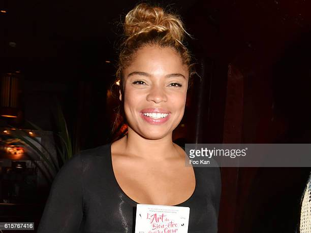 Actress Jina Djemba attends 'L'Art du Bien Etre Et Ailleurs Dans Ton Coeur' Amelie Etasse and Clement Vallos Book Launching at Buddha Bar on October...
