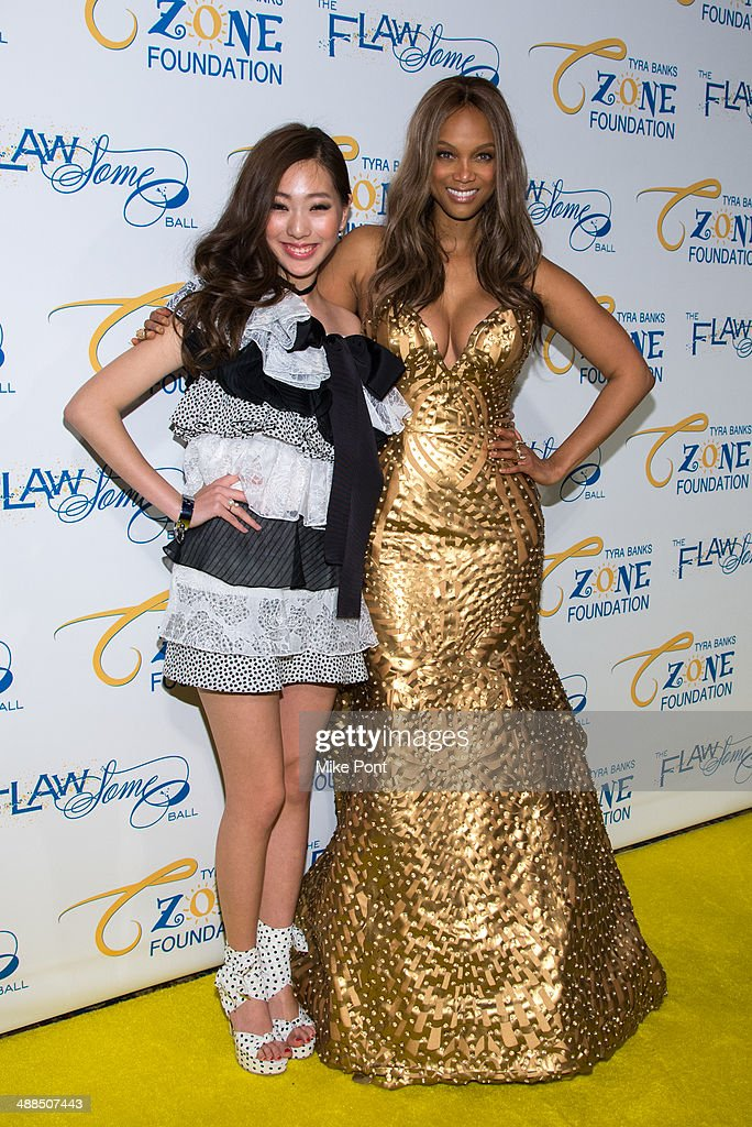 Actress Jini Lee and Tyra Banks attend Tyra Banks' Flawsome Ball 2014 at Cipriani Wall Street on May 6, 2014 in New York City.