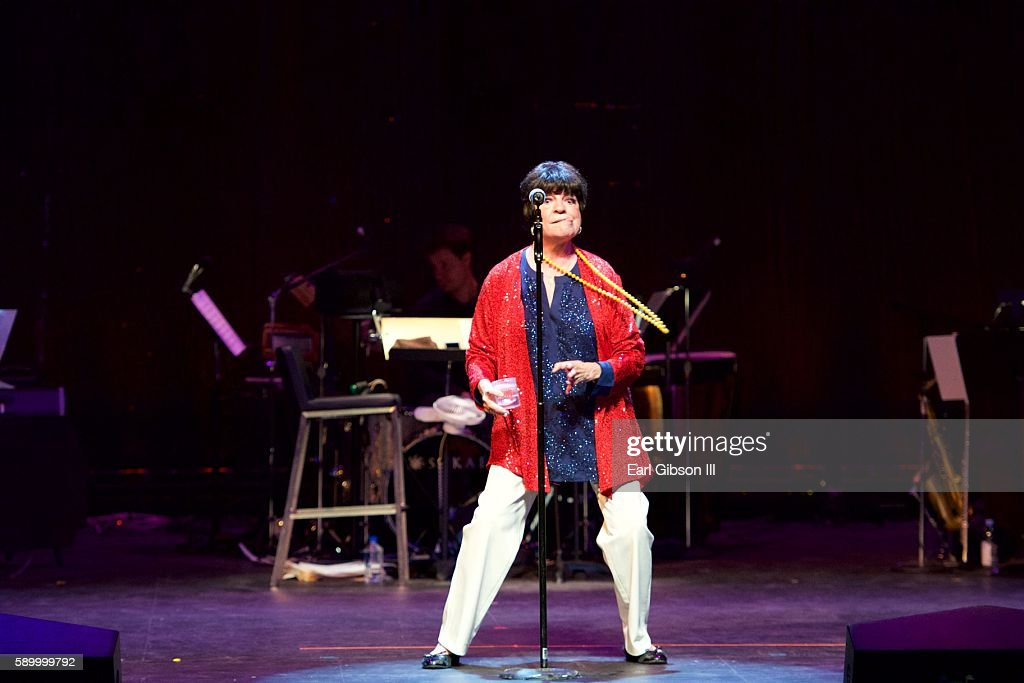 Actress Jo Anne Worley performs at the 3rd Annual ONE STARRY NIGHT A Special Performance Dedicated To Conquering ALS at Pasadena Playhouse on August...
