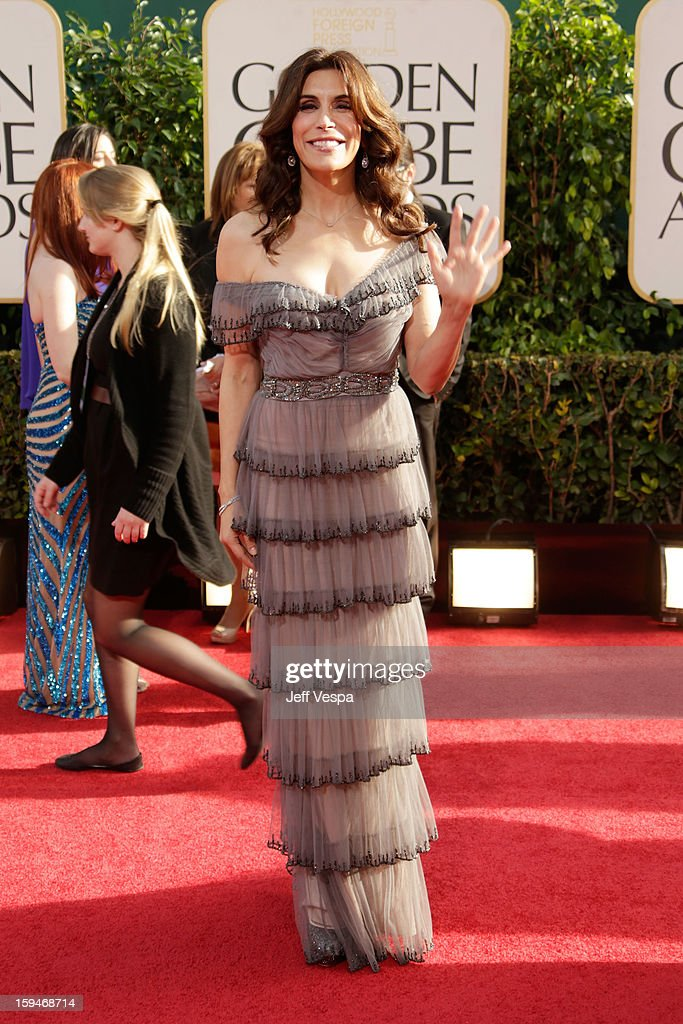 Actress Jo Champa arrives at the 70th Annual Golden Globe Awards held at The Beverly Hilton Hotel on January 13, 2013 in Beverly Hills, California.