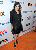 Actress Jo Champa attends the 'Under The Gun' LA premiere featuring Katie Couric and Stephanie Soechtig at Samuel Goldwyn Theater on May 3 2016 in...