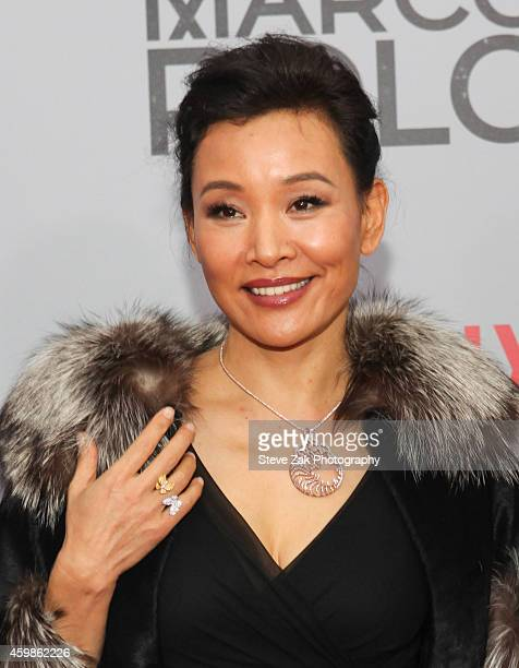 Actress Joan Chen attends the 'Marco Polo' New York Series Premiere at AMC Lincoln Square Theater on December 2 2014 in New York City