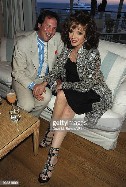 Actress Joan Collins and Percy Gibson attend the Vanity Fair and Gucci Party Honoring Martin Scorsese during the 63rd Annual Cannes Film Festival at...