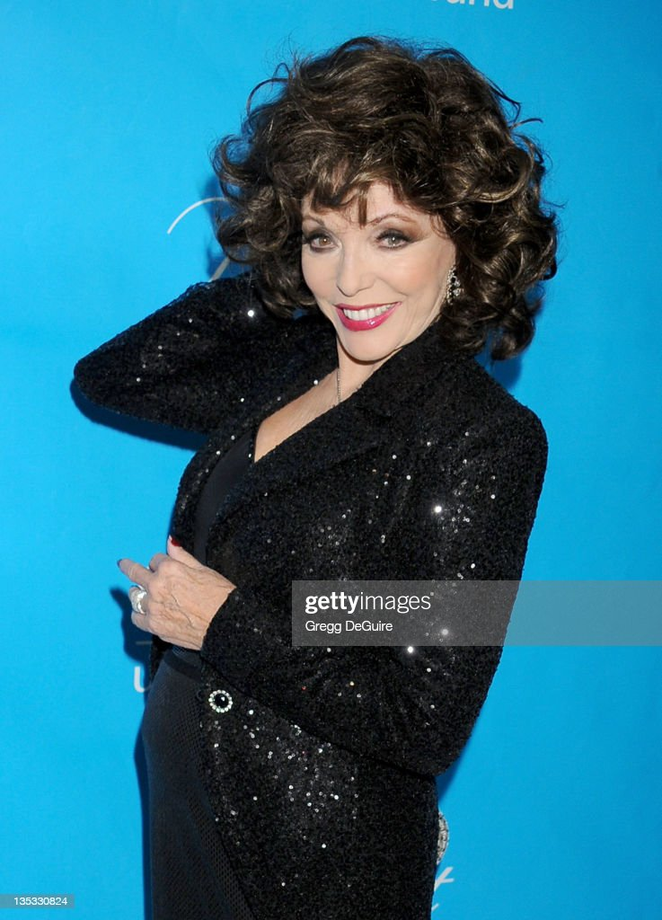 Actress Joan Collins arrives at The 2011 Unicef Ball on December 8, 2011 in Beverly Hills, United States.