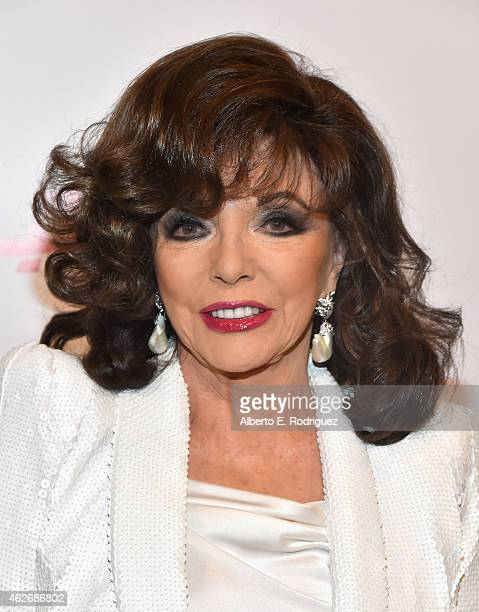Actress Joan Collins arrives to AARP The Magazine's 14th Annual Movies For Grownups Awards Gala at the Beverly Wilshire Four Seasons Hotel on...