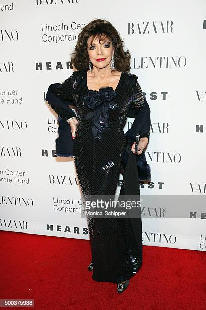 Actress Joan Collins attends 'An Evening Honoring Valentino' Lincoln Center Corporate Fund Gala Inside Arrivals at Alice Tully Hall at Lincoln Center...