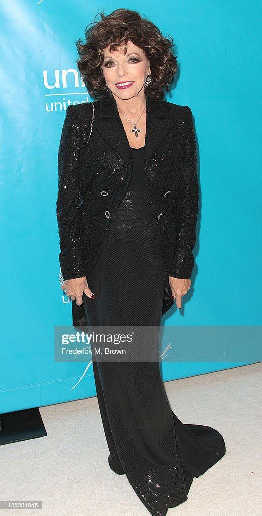 Actress Joan Collins attends The 2011 Unicef Ball at The Beverly Wilshire Hotel on December 8, 2011 in Beverly Hills, California