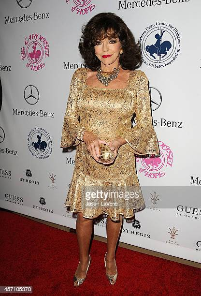 Actress Joan Collins attends the 2014 Carousel of Hope Ball at The Beverly Hilton Hotel on October 11 2014 in Beverly Hills California