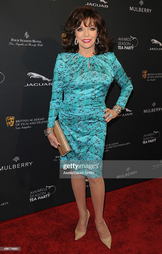 Actress Joan Collins attends the BAFTA LA 2014 Awards Season Tea Party at Four Seasons Hotel Los Angeles in Beverly Hills on January 11, 2014 in Beverly Hills, California.