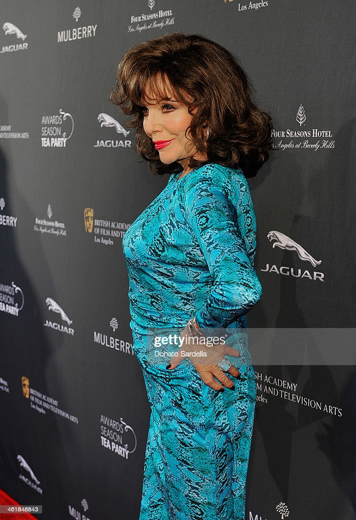 Actress Joan Collins attends the BAFTA LA Awards Season Tea Party with Mulberry at the Four Seasons Hotel Los Angeles at Beverly Hills on January 11, 2014 in Beverly Hills, California.