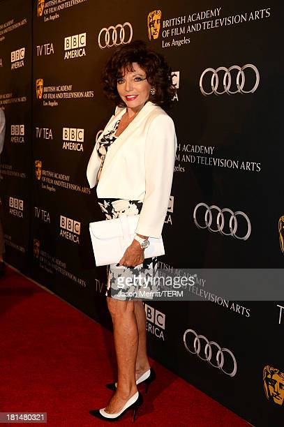 Actress Joan Collins attends the BAFTA LA TV Tea 2013 presented by BBC America and Audi held at the SLS Hotel on September 21 2013 in Beverly Hills...