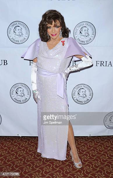Actress Joan Collins attends the Friars Club salute to Joan Collins at the Friars Club on May 4 2015 in New York City