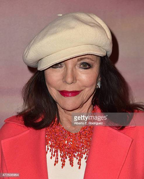 Actress Joan Collins attends the Los Angeles special screening of Bleecker Street's 'I'll See You In My Dreams' at The London Screening Room on May 7...