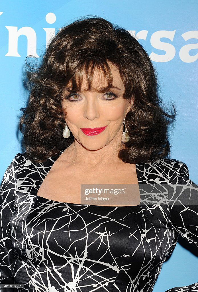 Actress <a gi-track='captionPersonalityLinkClicked' href=/galleries/search?phrase=Joan+Collins&family=editorial&specificpeople=109065 ng-click='$event.stopPropagation()'>Joan Collins</a> attends the NBCUniversal 2015 Press Tour at the Langham Huntington Hotel on January 15, 2015 in Pasadena, California.