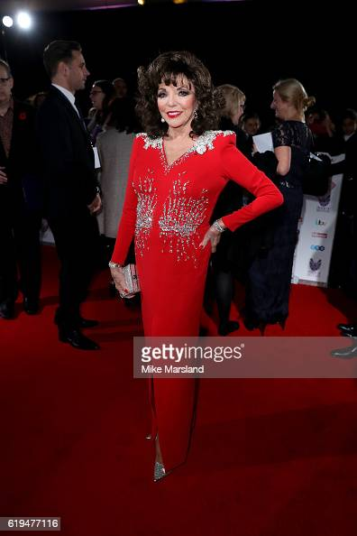Actress Joan Collins attends the Pride Of Britain Awards at The Grosvenor House Hotel on October 31 2016 in London England