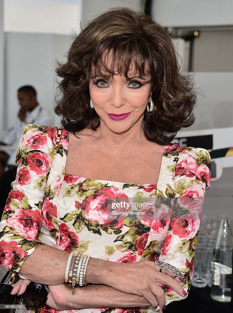 Actress <a gi-track='captionPersonalityLinkClicked' href=/galleries/search?phrase=Joan+Collins&family=editorial&specificpeople=109065 ng-click='$event.stopPropagation()'>Joan Collins</a> attends 'The Time of Their Lives' photocall at the 67th Annual Cannes Film Festival on May 18, 2014 in Cannes, France.