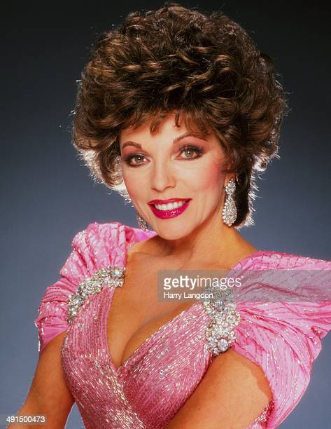 Actress Joan Collins poses for a portrait session circa 1987 in Los Angeles California
