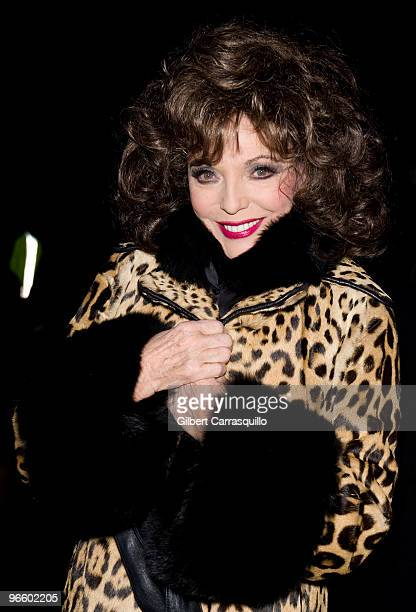 Actress Joan Collins seen around Bryant Park during MercedesBenz Fashion Week Fall 2010 on February 11 2010 in New York City