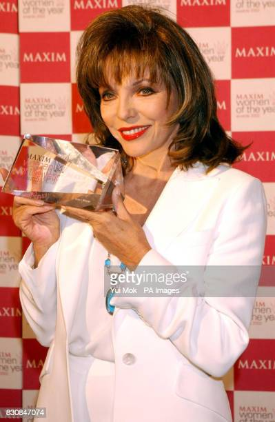 Actress Joan Collins with her Icon of the Year Award during the Maxim Women of the Year Awards 2002 at the Park Lane Hotel in London
