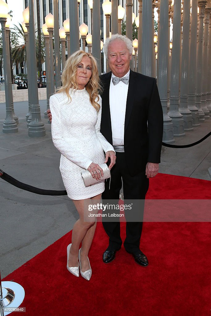 Actress Joan Van Ark (L) and John Marshall attend the LACMA 50th Anniversary Gala sponsored by Christie's at LACMA on April 18, 2015 in Los Angeles, California.