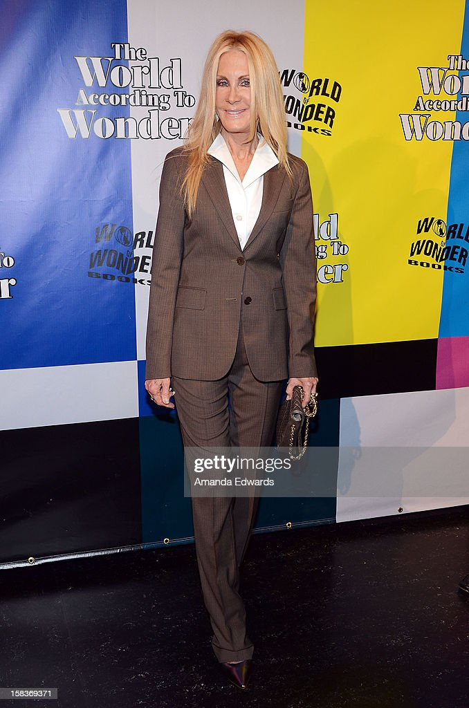 Actress Joan Van Ark arrives at the World Of Wonder book release party/birthday bash at The Globe Theatre at Universal Studios on December 13, 2012 in Universal City, California.