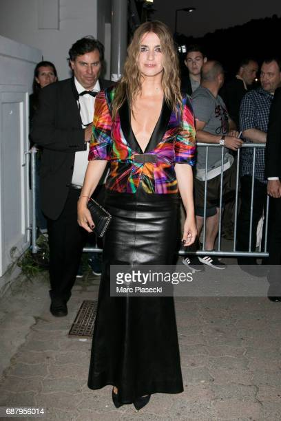 Actress Joana Preiss is seen during the 70th annual Cannes Film Festival at the 'Vanity Fair CHANEL' dinner at Tetou restaurant on May 24 2017 in...