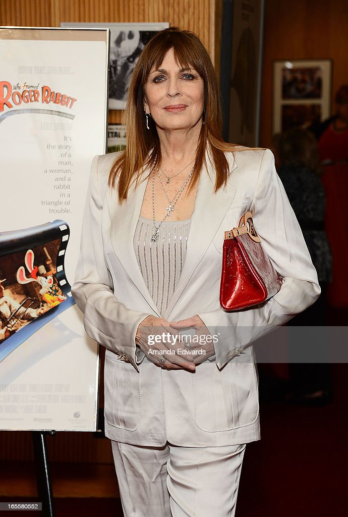 Actress Joanna Cassidy arrives at The Academy Of Motion Picture Arts And Sciences' 25th Anniversary Screening Of 'Who Framed Roger Rabbit' at AMPAS Samuel Goldwyn Theater on April 4, 2013 in Beverly Hills, California.