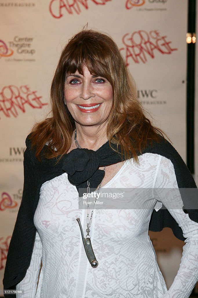 Actress Joanna Cassidy poses during the arrivals for the opening night performance of 'God of Carnage' at Center Theatre Group's Ahmanson Theatre on April 13, 2011 in Los Angeles, California.