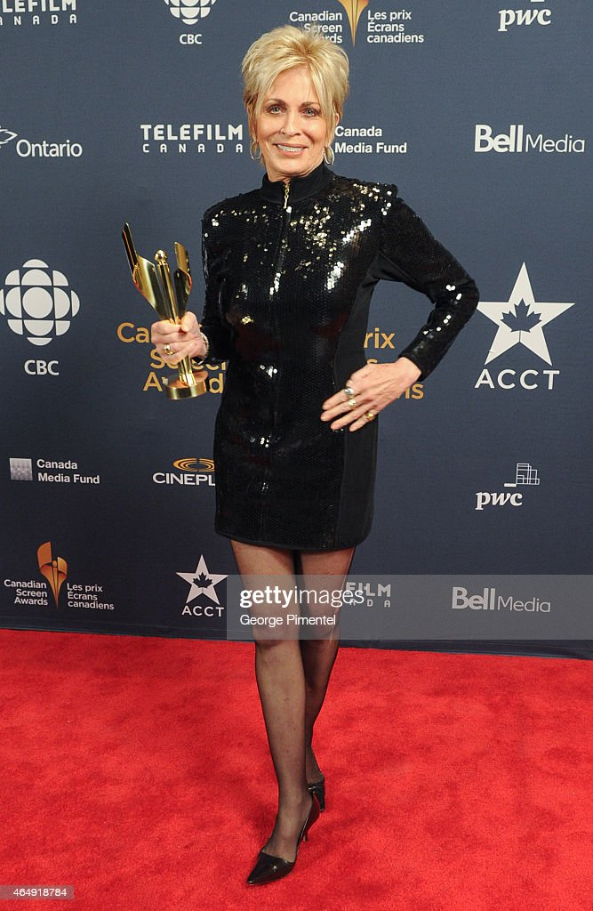 Actress Joanna Cassidy poses in the press room at the 2015 Canadian Screen Awards at the Four Seasons Centre for the Performing Arts on March 1, 2015 in Toronto, Canada.