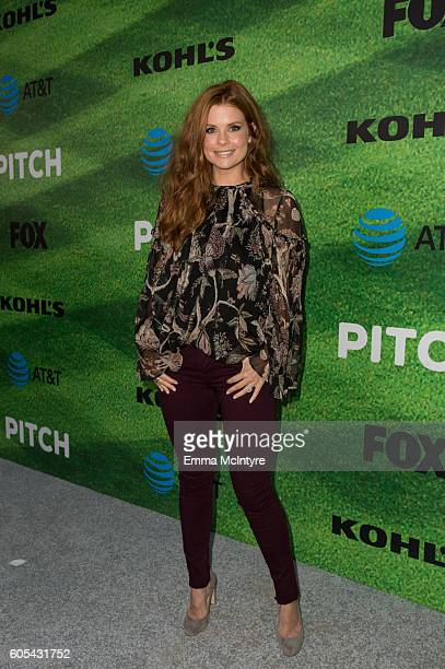 Actress Joanna Garcia arrives at the premiere of Fox's 'Pitch' at West LA Little League Field on September 13 2016 in Los Angeles California