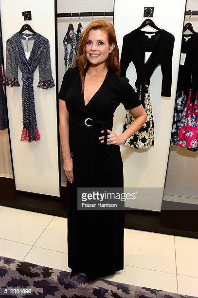 Actress JoAnna Garcia attends a shopping event at Diane von Furstenberg at The Grove to support the National Multiple Sclerosis Society on February...