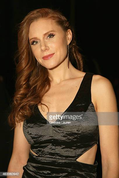 Actress JoAnna Garcia attends the Nicole Miller fashion show during MercedesBenz Fashion Week Fall 2015 at The Salon at Lincoln Center on February 13...