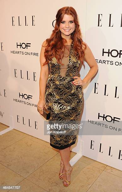 Actress JoAnna Garcia Swisher arrives at the ELLE Women In Television Celebration at Sunset Tower on January 22 2014 in West Hollywood California