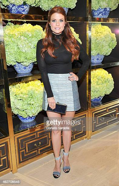 Actress JoAnna Garcia Swisher attends the Tory Burch Rodeo Drive Flagship Opening at Tory Burch on January 14 2014 in Beverly Hills California