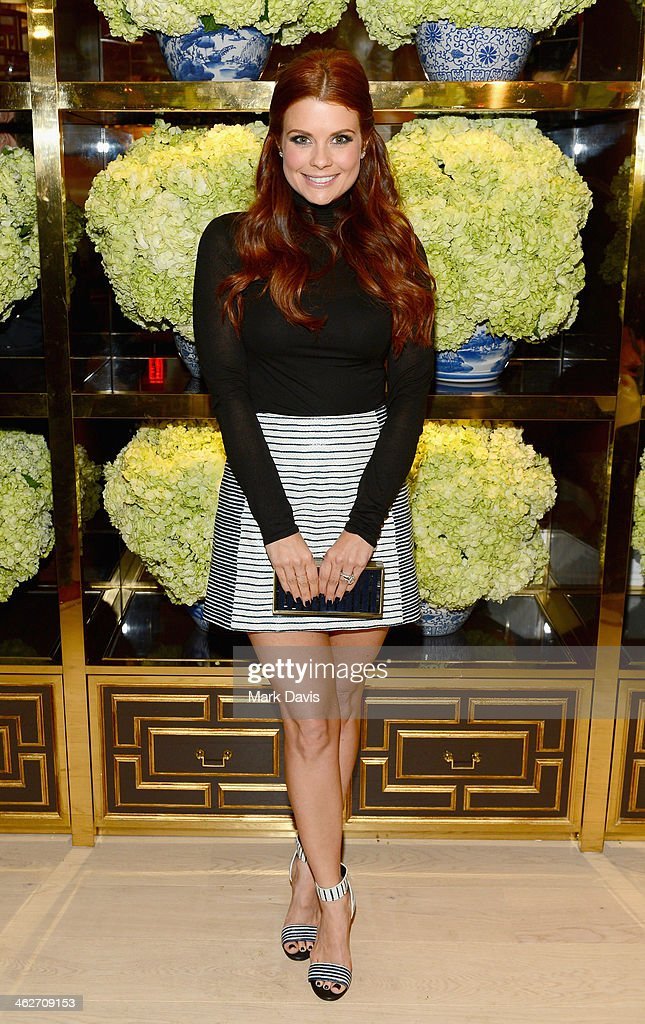 Actress JoAnna Garcia Swisher attends the Tory Burch Rodeo Drive Flagship Opening at Tory Burch on January 14, 2014 in Beverly Hills, California.