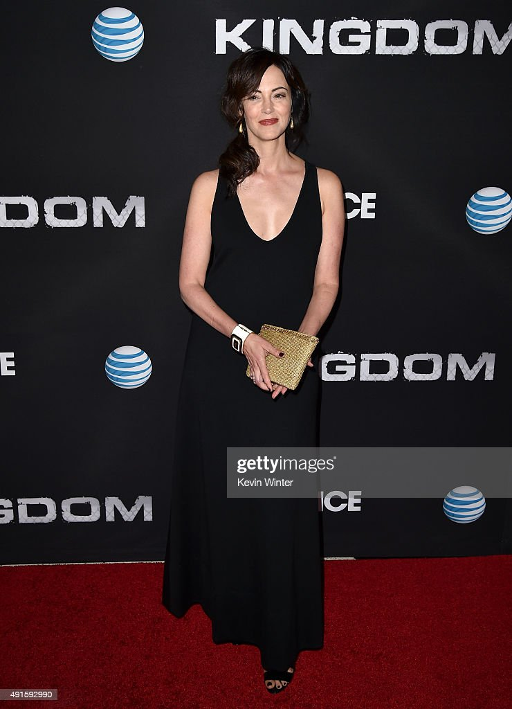 Actress Joanna Going attends the premiere of DIRECTV's 'Kingdom' Season 2 at SilverScreen Theater at the Pacific Design Center on October 6, 2015 in West Hollywood, California.