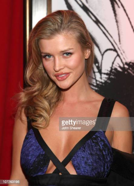 Actress Joanna Krupa inside the Frederick's of Hollywood 2008 Spring collection fashion show to benefit Clothes off our Backs at the Hollywood...